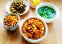 菜,肉,米組成一份簡單的美味,煮一鍋從來不剩,吃撐了還想再吃