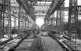 建造期間的泰坦尼克號老照片