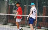 那英兒子網球比賽霸氣十足 那英低調陪伴