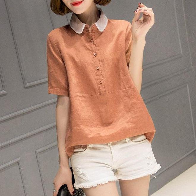 韓版寬鬆寬鬆百搭襯衫穿出韓劇女主風範,搭配褲子很減齡顯年輕