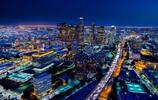 光與影的美國洛杉磯夜景