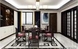 150㎡的新中式裝修完工,精緻大氣,客廳超讚