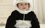 滿月就能穿的寶寶連體小哈衣,可愛呆萌卡通造型,外出時尚又保暖