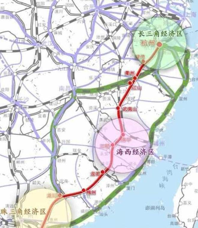 浙江到廣東再通高鐵,長1200公里,線路走向受關注,這些地方受益