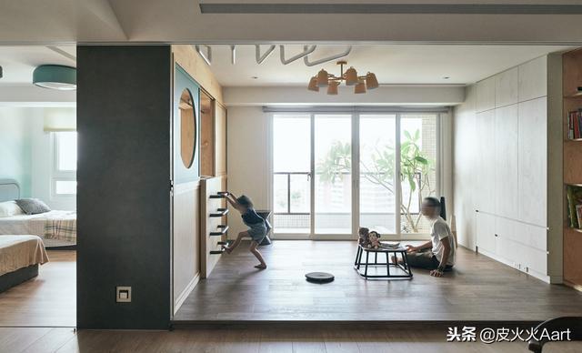 這對80後夫妻,把不到70平的家裝成了孩子的遊樂場,驚豔設計圈