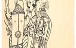 吳道子線描人物畫書畫界