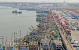 五一節渤海灣迎來伏季休漁,美味海鮮物美價廉,吸引眾多市民選購