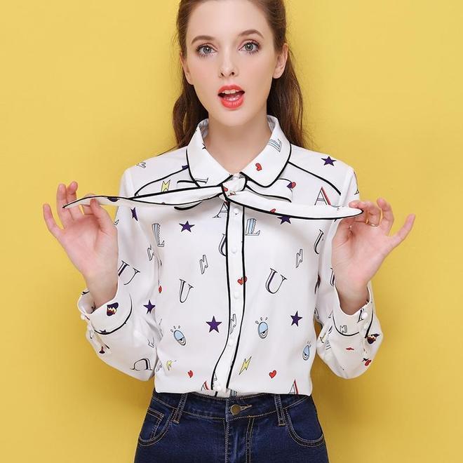 女人怎麼穿襯衫?要穿就穿這樣的雪紡衫