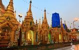 仰光大金塔下虔誠禮拜的姑娘,在緬甸很多女性也會選擇出家為尼