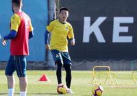 武磊訓練非常刻苦,西媒曝他將在本輪西甲對陣瓦倫西亞比賽中首發