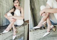 5cm跟高的slingbacks涼鞋,優雅又百搭,30套造型幫你get它的美