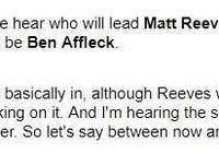 《蝙蝠俠》電影11月開拍 劇本仍在改進,大本去留待定