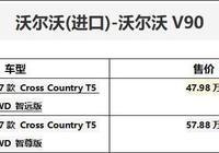 沃爾沃V90售價47.98萬起,配備雷神之錘
