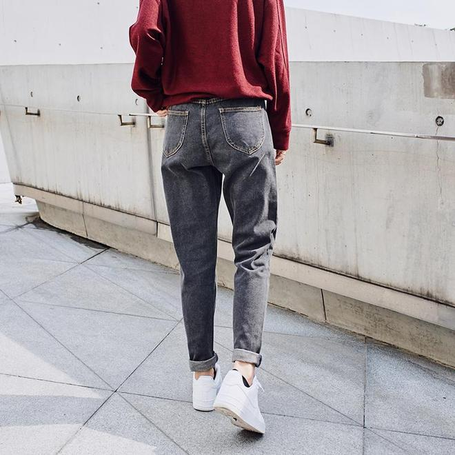 你的舊款牛仔褲都扔掉吧,看看這樣的蘿蔔褲,真是太顯瘦了