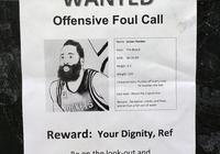 哈登通緝令驚現鹽湖城。獎金竟然是裁判的尊嚴,如何看待爵士球迷的這種做法?