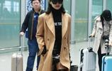 宋茜現身機場,網友:穿這大衣還敢穿這種鞋的人,估計也只有你了