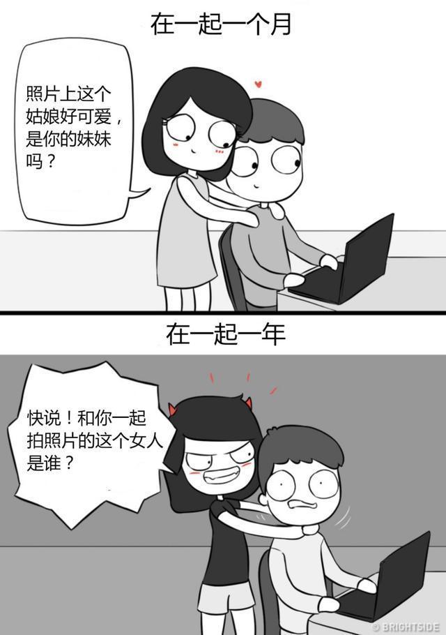 漫畫|結婚一個月和一年的區別,扎心的真實