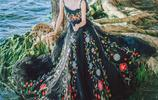 中式古典婉約美感,古韻新意的美麗裙裝