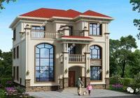 農村自建三層別墅,美觀時尚,給自己和家人一個溫馨的家!