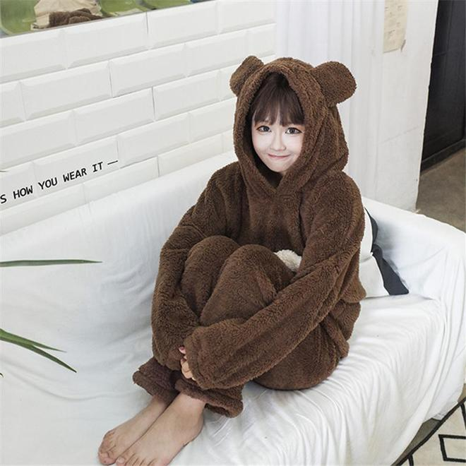 冬天洗澡後這樣穿,一點不麻煩,客人來不尷尬,下樓拿快遞也方便