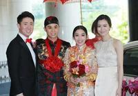 香港名媛嚴紀雯登記結婚,文詠珊出席當伴娘,香檳色長裙顯氣質