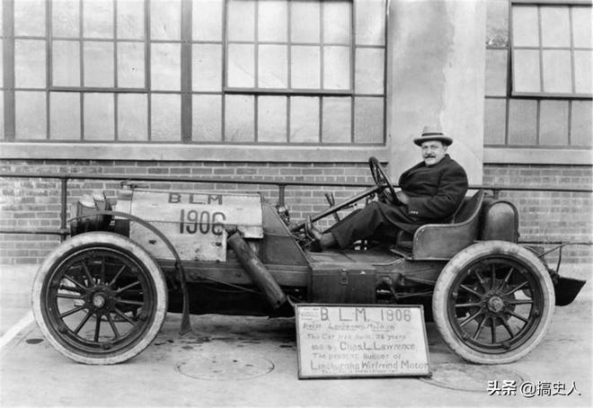 老照片:100年前的汽車,圖6是1912年的汽車,已經裝配了真皮座椅