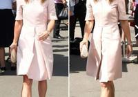 凱特王妃妹妹亮相溫網賽,粉色連衣裙氣質溫婉,但看著比凱特老