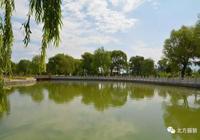 桌面上的代縣滹沱河溼地公園風光