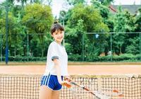小白攝影:打網球的少女