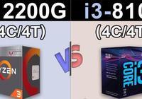 單就CPU性能,R3 2200G與i3-8100會有多大差別嗎?實測對比