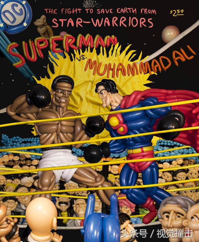 氣球英雄系列,國外男子耗時數月用氣球還原美國漫畫經典場景