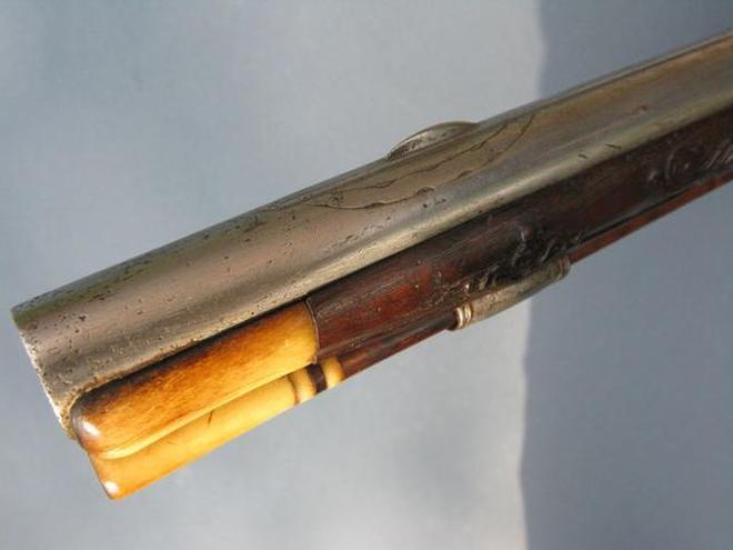 歐洲騎兵使用的燧發槍,製作於1740年,使用者應該是一位騎兵軍官