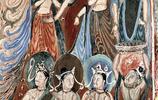 莫高窟內的壁畫異彩紛呈,壁畫總計有45000平方米,彩塑2415尊
