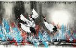 畫家李志天《新疆情結 胡楊林下駝鈴聲》
