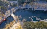 航拍濟南最美護城河,從高空俯瞰五彩斑斕,宛若一幅美麗畫卷