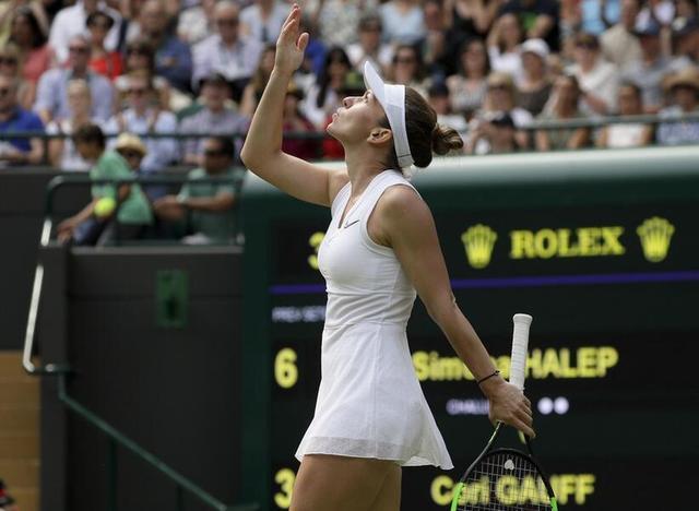 哈勒普2-0完勝斯維託麗娜 生涯首進溫網女單決賽