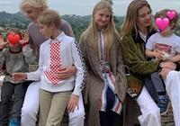 LV太子妃夫妻高甜現身,水果娜穿彩虹衫太減齡,生5個娃還是少女