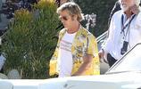 布拉德·皮特 和 瑪格麗特·庫裡 在洛杉磯拍攝《好萊塢往事》