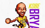 NBA球星卡通插畫
