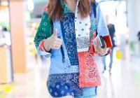 趙薇身穿花色襯衫素顏現機場,不過看到鞋子,網友忍不住笑了