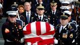 圖為美國前總統老布什的國葬在華盛頓舉行