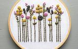 美麗的花束主題刺繡