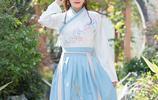 """陽春三月,特適合穿這""""漢服"""",大氣而優雅,盡顯端莊秀麗之美"""