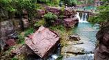 """河南有個地方風景如畫,可是周圍石頭的顏色這變成了""""燒烤爐"""""""