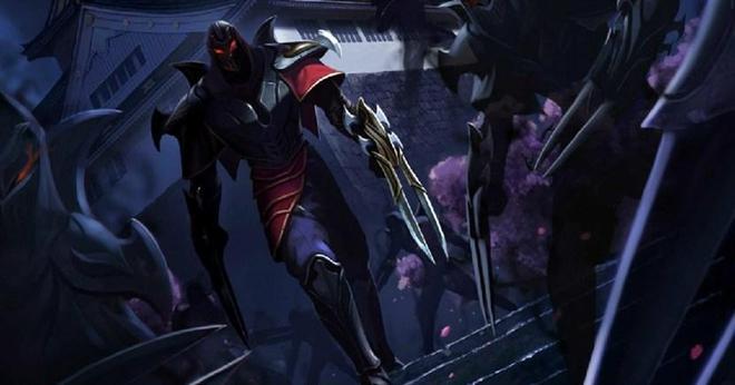 英雄聯盟:影流之王插畫 影之孤獨君,唯有黑夜作伴