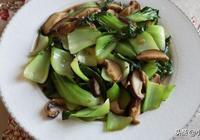 家常素菜菜譜,簡單美味的油菜炒香菇,一樣美味下飯,動手試試吧