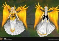 外國玩家自制莫甘娜皮膚 獨特的金色北極光女神