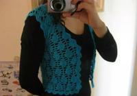 毛線鉤針小開衫披肩毛衣手工鉤針編織教程圖解