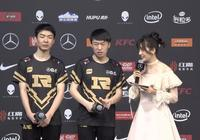 """RNG連勝後採訪階段小虎化身""""蔡徐坤""""?狼行調侃小虎籃球太菜"""