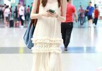 何穗一身白裙現機場,這裙子一般人真心不敢穿,何仙姑就是何仙姑